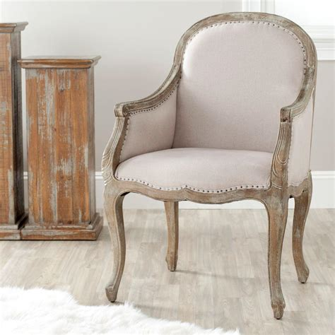 safavieh armchair safavieh esther taupe linen arm chair mcr4575a the home