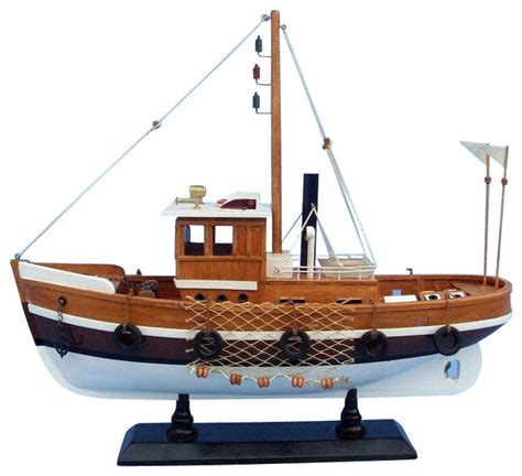 wooden knot working model fishing boat  beach style