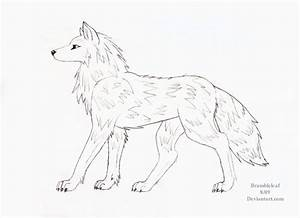 Wolf Side View Drawing