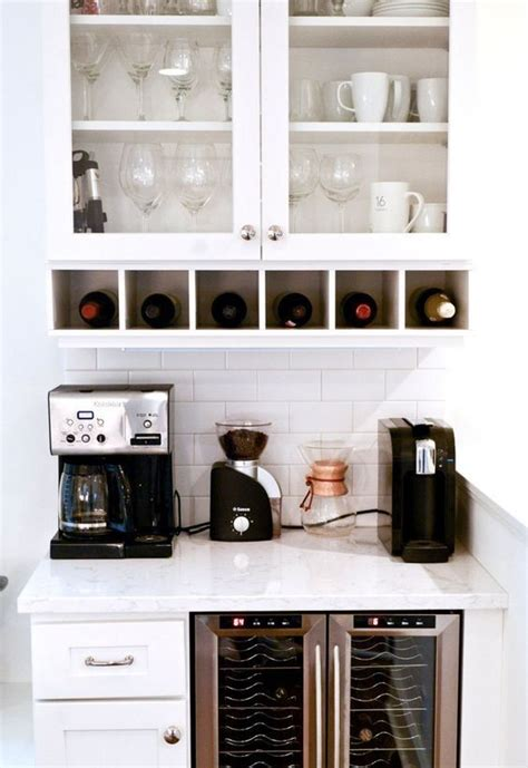 Learn how we made this simple coffee bar on an extremely low budget. Pin by Kathi Cook on Voysey ideas   Coffee bar home, Wine and coffee bar, Coffee bars in kitchen