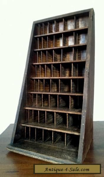 Antique Angled Oak Letterpress Furniture Cabinet Hamilton