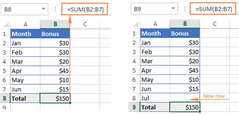 excel offset function formula examples