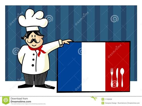 chef cuisine francais chef of cuisine stock vector illustration of knife