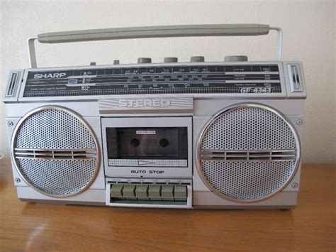 Radio Cassette Recorder by Sharp Stereo Radio Cassette Recorder Gf4343 Condition