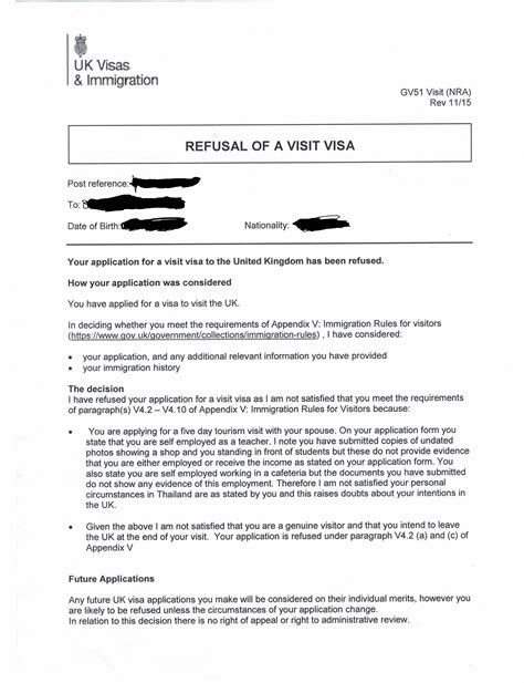 reason   uk visa refusal travel stack exchange