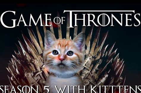 game  thrones  told  cats    smile