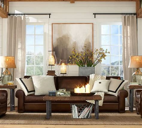 Pottery Barn Turner Roll Sofa by Image Result For How To Brighten Up Brown Leather Sofa