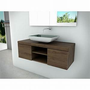 incroyable meuble salle de bain avec vasque a poser 75 With salle de bain design avec pose vasque sur meuble