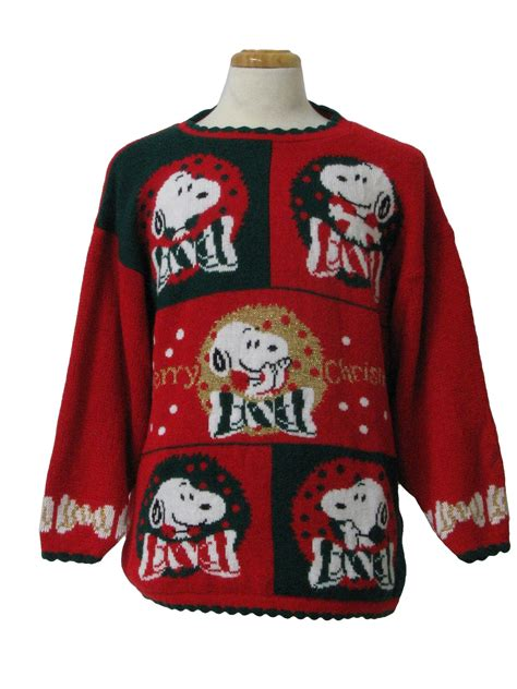 snoopy sweater 1980 39 s sweater 80s authentic vintage