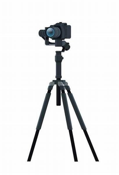 Camera Stand Vector Clip Tripod Illustrations Professional