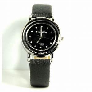 montre avec bracelet en cuir pour femme With robe de cocktail combiné avec montre bracelet cuir