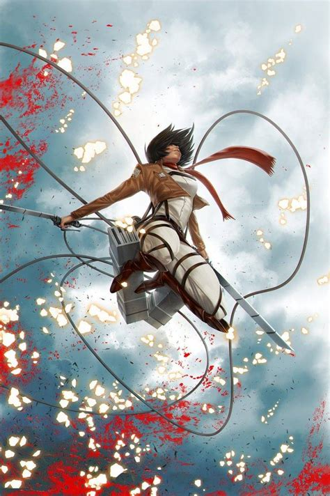 mikasa ackerman shingeki  kyojin anime girls