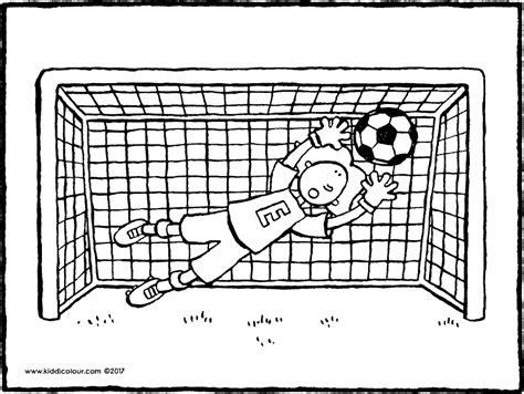 Goal Kleurplaat by Football Kleurprenten Kiddicolour