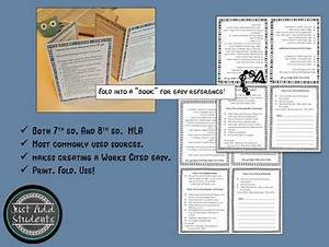 How To Format Work Cited Mla Citation Works Cited Research Writing Resource By Just