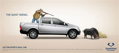 ssangyong print advert  brave boar ads   world