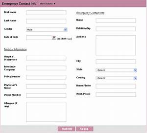 customer contact form html form builder free web form With zoho creator templates