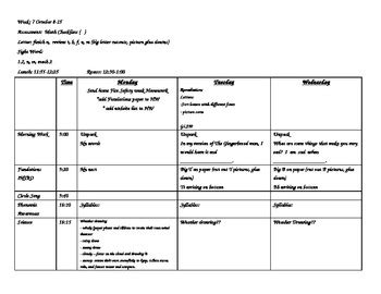week 7 kindergarten lesson plans theme 1 week 2 houghton 216 | original 323810 1
