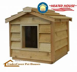Heated insulated cedar outdoor cat houseferal shelterpet for Insulated outdoor dog house