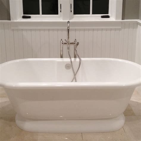 tub surrounded  beadboard wainscoting windsorone