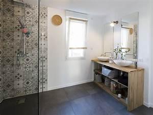 Faience Carreaux De Ciment : salle de bain avec carreaux ciment good description for ~ Premium-room.com Idées de Décoration