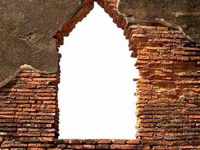 Brick Wall Opening Stone Bricks Masonry Busting