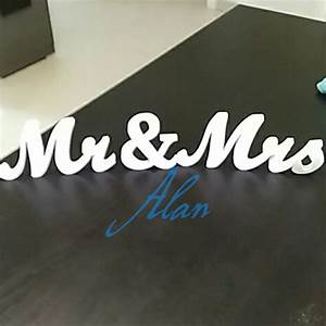 mr and mrs signs for wedding sweetheart table decor mr and With mr and mrs freestanding letters