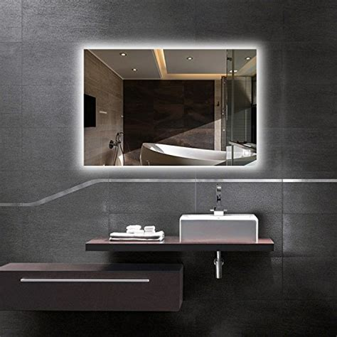 led countertop vanity mirrors backlit mirror bathroom
