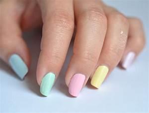Des Couleurs Pastel : vernis ongles de couleurs pastel by yoko nail art pastel et paillettes pinterest ~ Voncanada.com Idées de Décoration