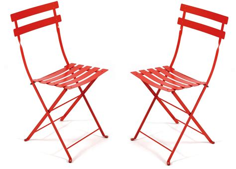 bistro folding chair set of 2 fermob horne
