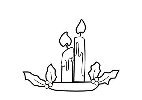 candela natalizia da colorare disegno da colorare candele natalizie cat 9141