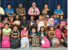 Local students receive backpacks and school supplies
