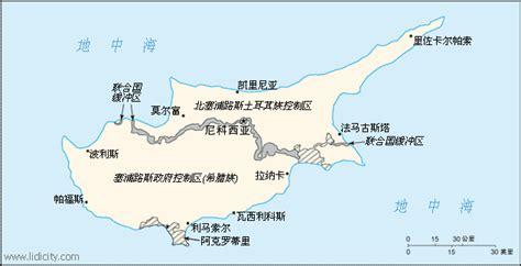 塞浦路斯共和国地图
