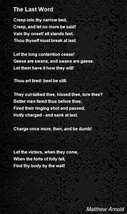 The Last Word Poem By Matthew Arnold