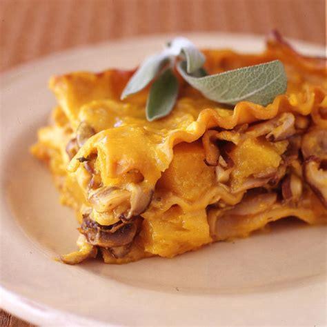 recette cuisine weight watcher lasagnes de potiron à la sauge et aux chignons