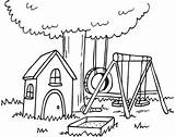 Clipart Backyard Clip Yard Drawing Simple Colouring Houses Craft Ninja Decorating sketch template