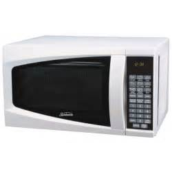 kitchen island cart with stainless steel top sunbeam sm0701a7e 7 cubic foot microwave oven white