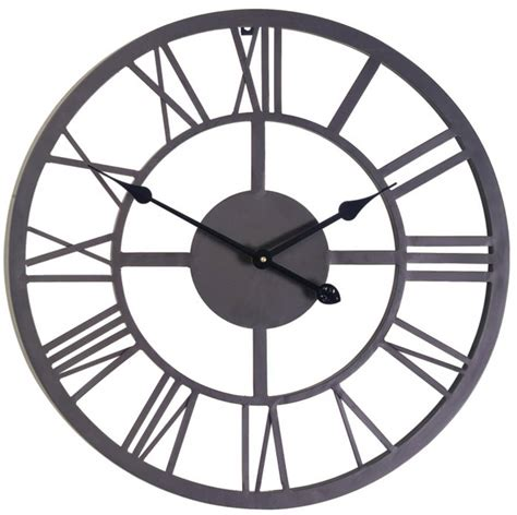 black numeral indoor and outdoor wall clock 56cm by