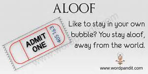 Meaning of Aloof