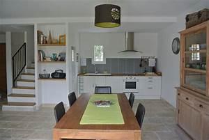 Cuisine Sejour Meme Piece : sejour avec cuisine ouverte elegant cuisine ouverte bleu ~ Zukunftsfamilie.com Idées de Décoration