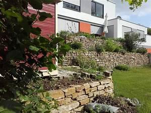Steine Mauer Garten : modernes haus schicke mauer trockenmauer trockensteinmauern natursteinmauern ~ Watch28wear.com Haus und Dekorationen