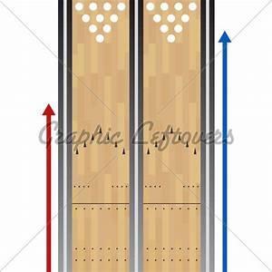 Bowling Lane Chart  U00b7 Gl Stock Images
