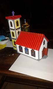 3d Church Hama Beads By Marie Kli