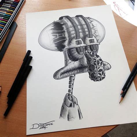 atomiccircus disegni a matita realistici dino tomic 12