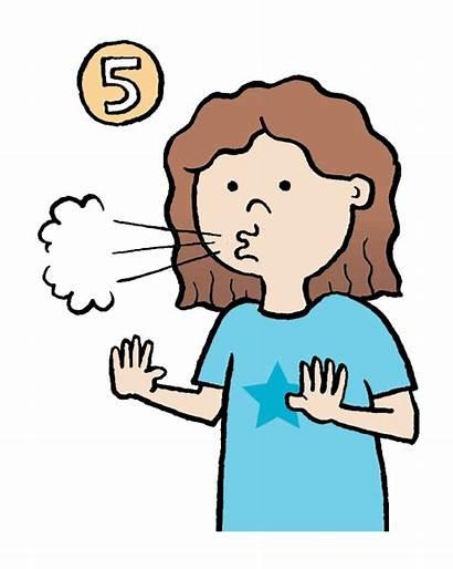 Breathing Clipart Down Calming Calm Child Kid