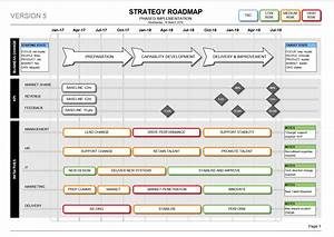 strategy roadmap template visio kpi delivery With visio project timeline template