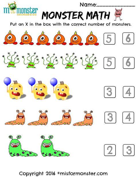 preschool math free printable 758   MonsterMath.ErickaD 1
