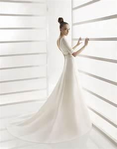 a line modest wedding dress with three quarter length With 3 quarter length wedding dresses