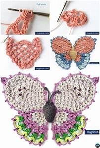 25 Crochet Butterfly Free Patterns  Picture Instructions