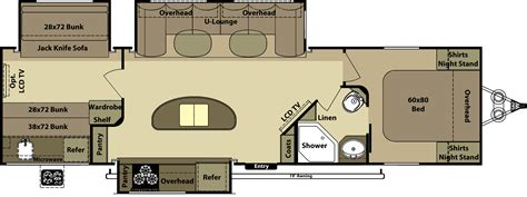 awesome layout with bunks and kitchen island travel