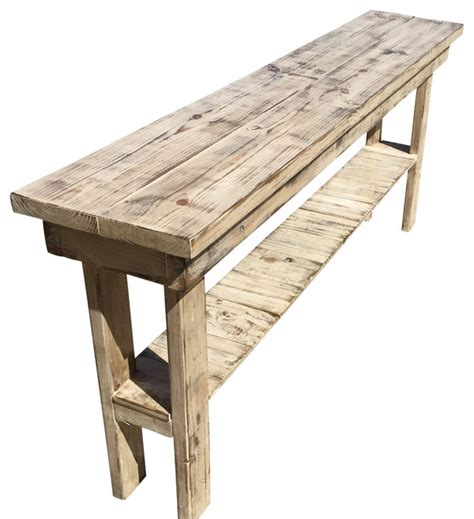 rustic distressed console table  long farmhouse console tables   point wood design